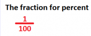 the fraction for percent