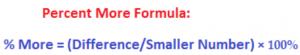 the percent more formula