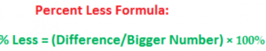 percent less formula