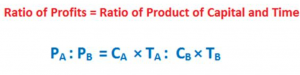 ratio of product of capital and time