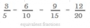 equivalent fractions of 3/5