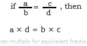 if a/b=c/d, then a*d=b*c