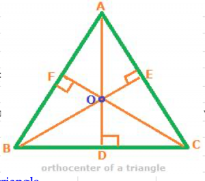 Orthocenter of triangle