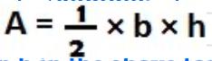 A=1/2*b*h