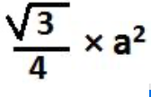 formula for area of an equilateral triangle