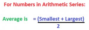 Average=(Smallest+Largest)/2