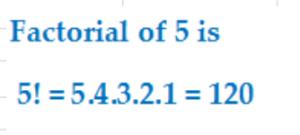 factorial of 5