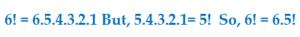6!=6.5.4.3.2.1
