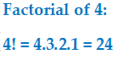 factorial of 4